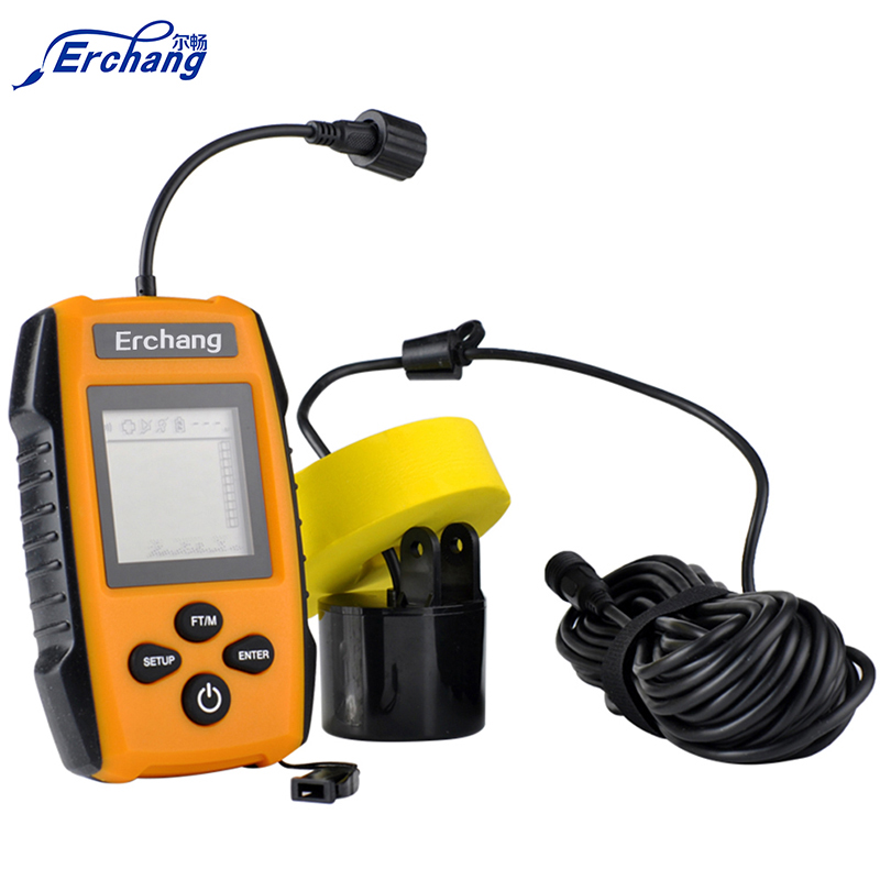 Erchang portable fish finder alarm 100m sonar lcd fishing for Portable fish finder reviews