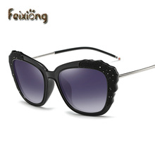 FEIXIONG Polarized sunglasses women Retro Style Metal Frame Sun Glasses Lady square eyewear Brand Designer Oculos Feminino gafas