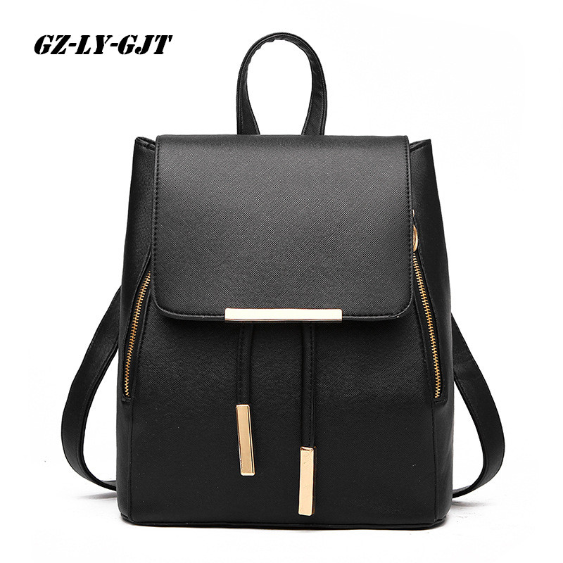 GZ-LY-GJT Women Backpack High Quality PU Leather Escolar School Bags For Teenagers Girls handle Backpacks Fashion Travel daypack zhierna brand women bow backpacks pu leather backpack travel casual bags high quality girls school bag for teenagers