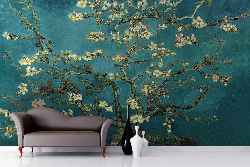 Mural Almond Branches By Van Gogh Wallpaper Murals 3D Wallpaper For Walls Tv Background