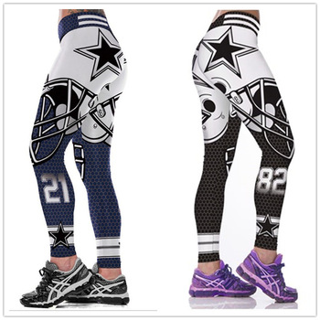 Unisex Cowboys 3D Printed Fitness Leggings