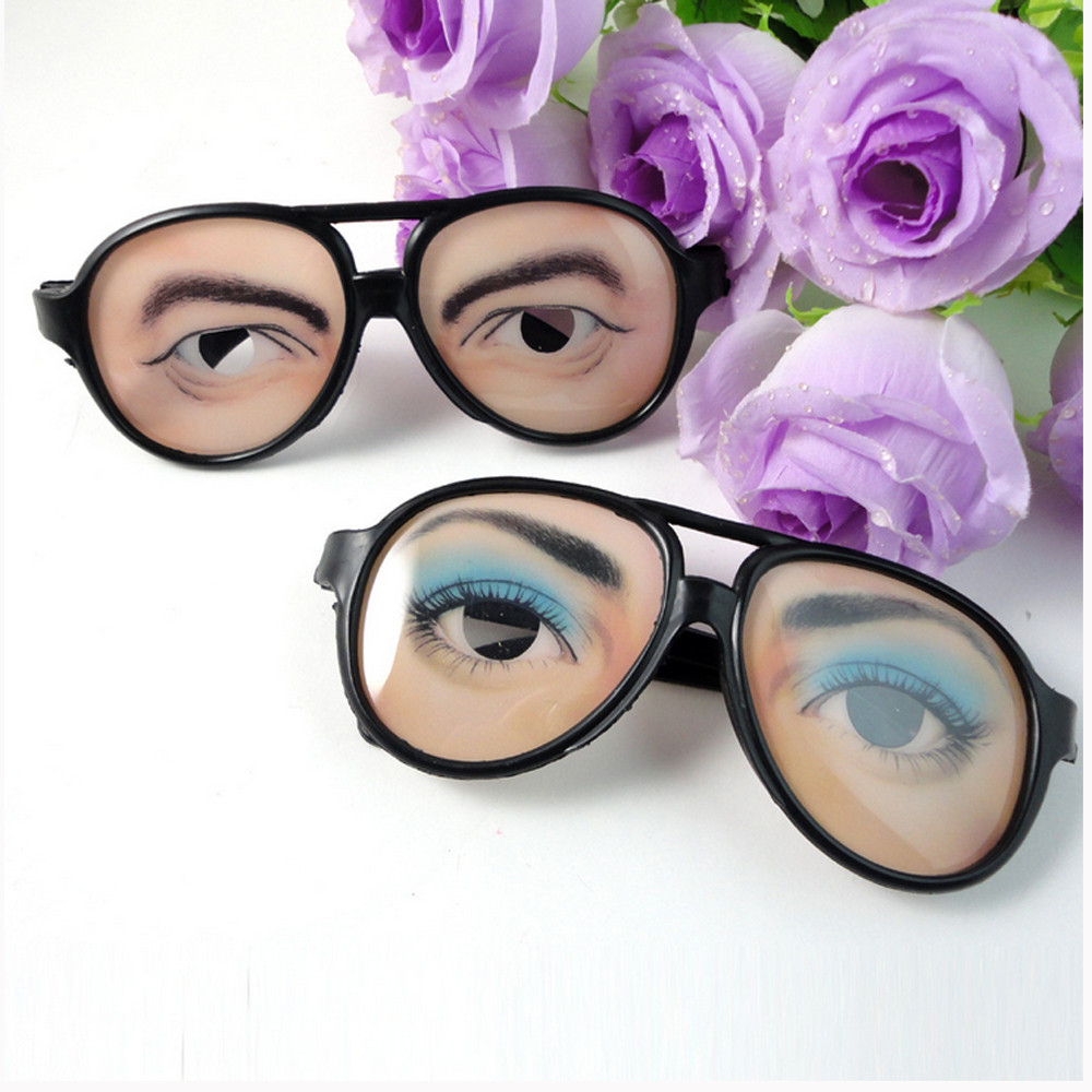new HALLOWEEN Party Funny Glasses Fake Novelty Gag Prank Eye Ball Joke Toy sep 14
