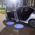 INSIGNIA del coche Luz de Cortesía Puerta Emblemas Personalizados Bienvenido Sombra del Fantasma de la lámpara DE Nuevo Magotan Scirocco TIGUAN Passat Golf TOUAREG