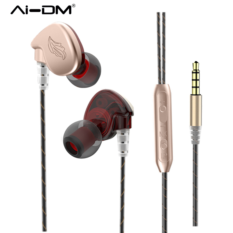 AIDM S5 Earphones Sport Wired 3 5mm In Ear Headset Stereo Earphone Bass Airpod With Micro
