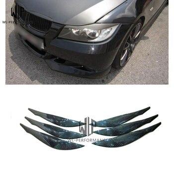 3 series F30 คาร์บอนไฟเบอร์ด้านหน้าสติกเกอร์คิ้วฝาครอบไฟหน้าตารถชุดสำหรับ BMW 3 series f30 2012 - UP