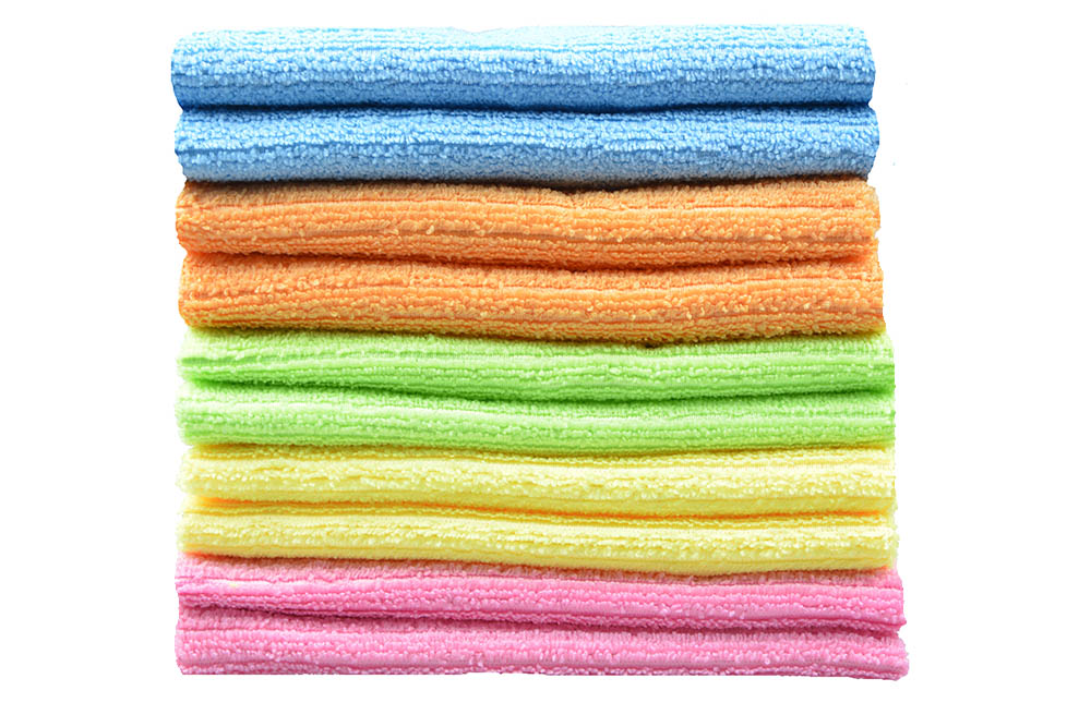 10pcs 30cmx30cm Multi-purpose Microfiber Strips Dishcloths Kitchen Dish Cloth Cleaning Cloths - Assorted Color