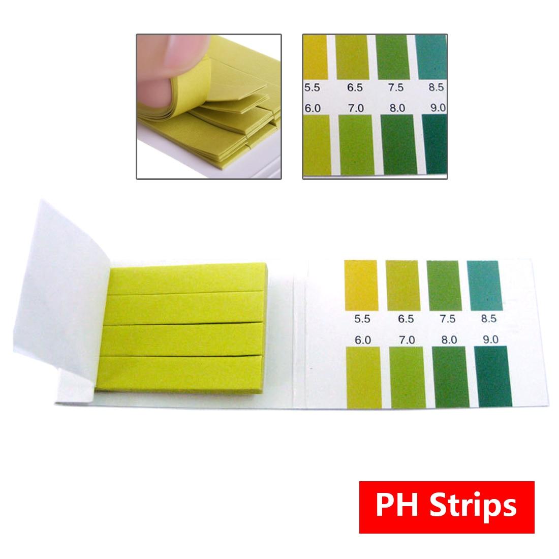 80 PH Strips 5.5-9.0 Litmus Paper PH Tester Papers Universal Indicator Paper Test For Water Aquarium