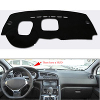 For Peugeot 3008 2013 2016 With HUD Car Dashboard Avoid Light Pad Instrument Platform Cover Mat