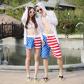 American Flag Shorts Men & Women Couple shorts Stripes Stars Lovers Shorts 2pcs(One for Man,One for Woman ) BZ867551