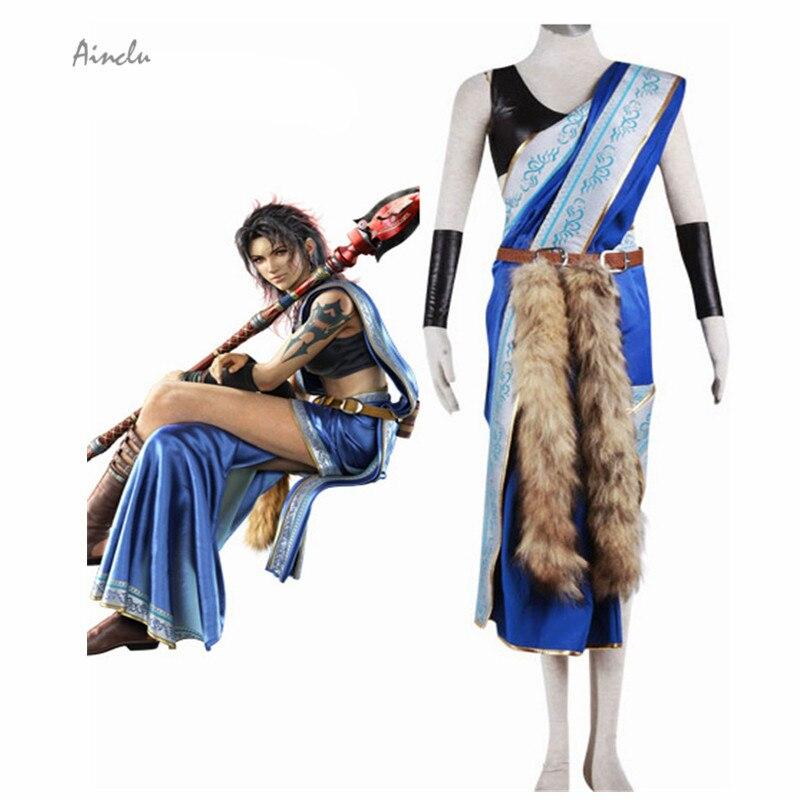 Ainclu Free Shipping New Final Fantasy XIII Oerba Yun Fang Cosplay Costume Final Fantasy Clothing