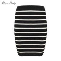 Bandage Skirts Deer Lady Women 2017 Black Short Skirt Pencil Bodycon Rayon Skirts Bandage High Quality
