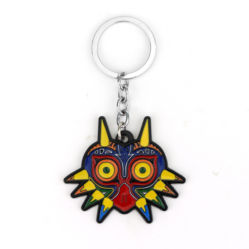 Legend Of Zelda Game Majoras Mask Colorful Owl Animal Triangle Pendant Charm Keychain Jewelry Christmas Gifts For Women And Men image
