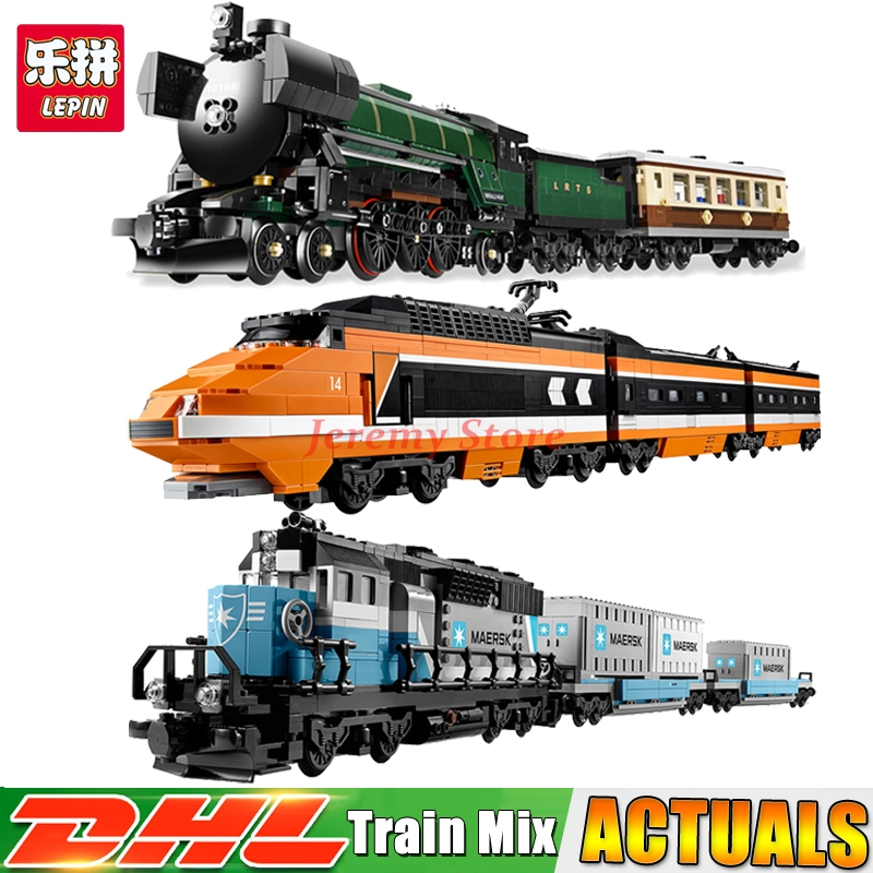 Lepin Technic Series 21005+21006+21007 Educational Building Blocks Bricks Model Toys Christmas Gifts 10194 10219 10233 lepin 21006 compatible builder the maersk train 10219 building blocks policeman toys for children