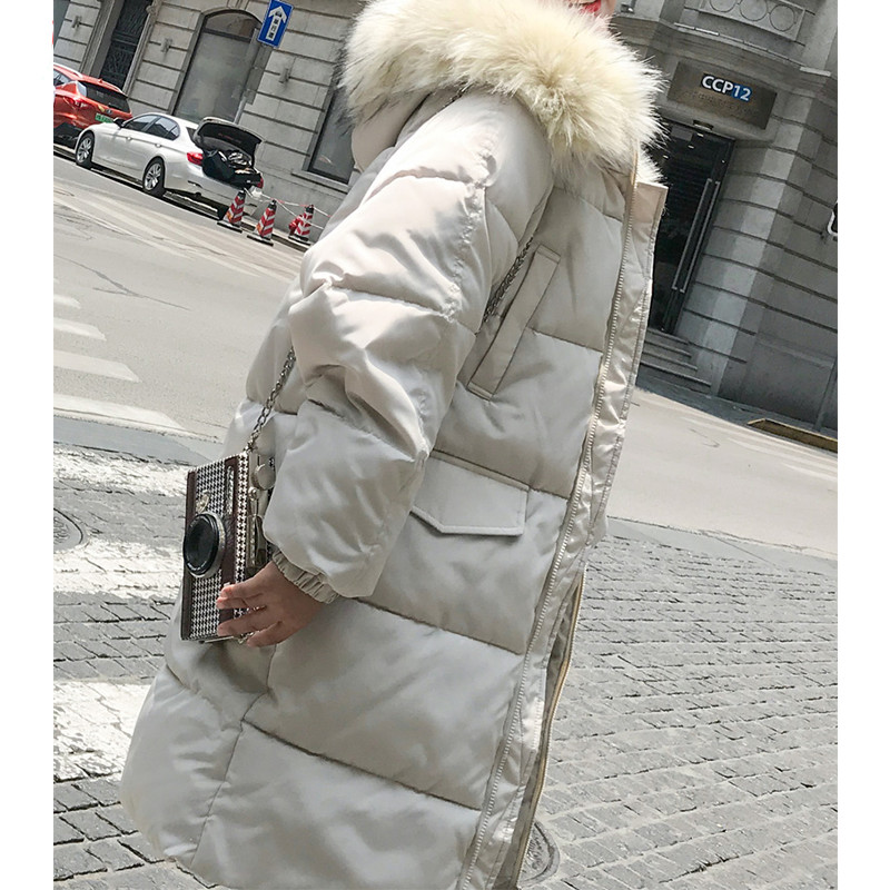 Amovible Coton Vêtements Manteau De Hiver X373 Veste Fourrure Femmes Épais Version Coréenne Photo Bf Col Color Nouvelle Section black Pain 2018 Longue 4w5PEqg5