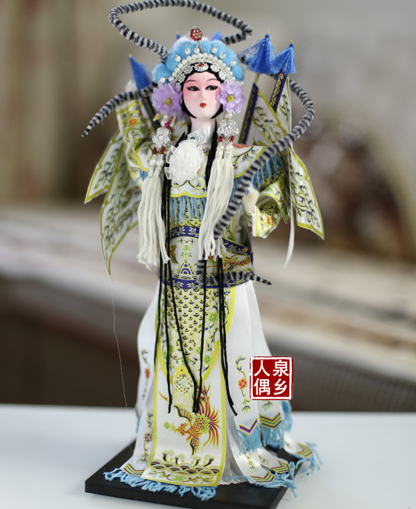 Resin Statuette Beijing Opera Characters Silk Dolls Home Decorations