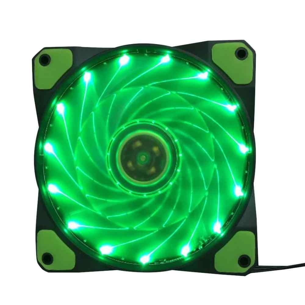 Komputer PC 16dB Ultra Silent 12 LED 15 LED Case Fan Heatsink Cooler Pendingin Kipas PC 120 Mm, 12 Cm Fan 12VDC 3P Ide 4pin