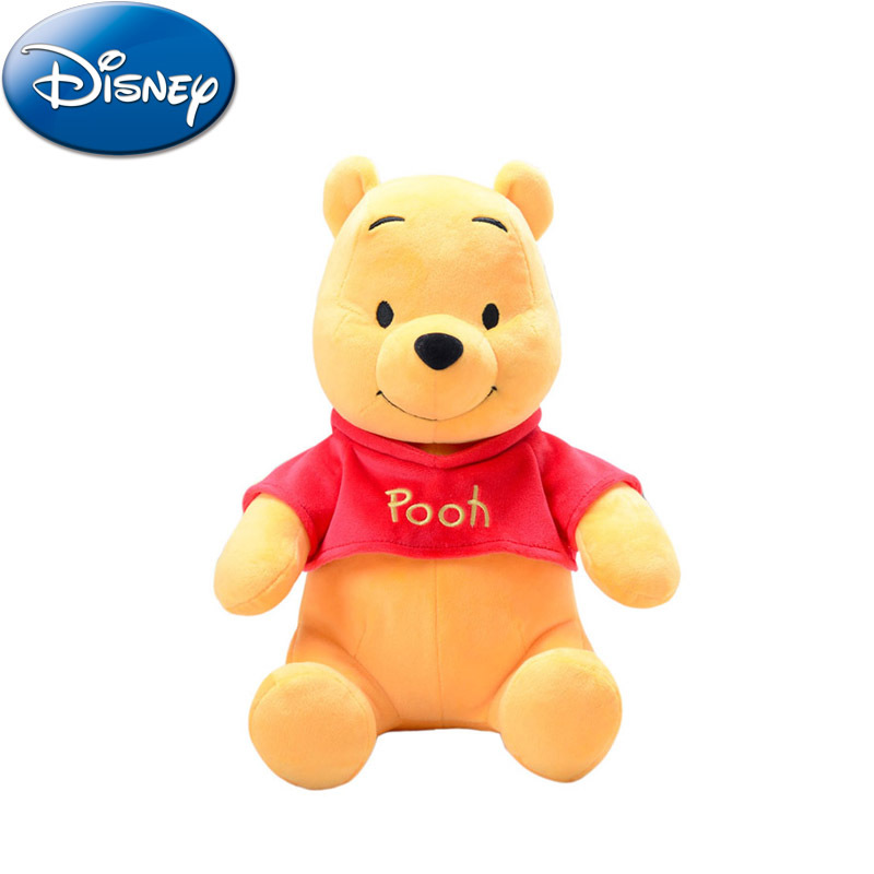 Disney Winnie The Pooh Original Cute Plush Stuffed Toy 30/40cm Cosplay Pooh Children's Birthday Christmas Best Holiday Gift