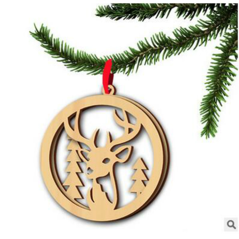 2018 new year wooden bird christmas tree decorations christmas decorations for home christmas elk decorations in pendant drop ornaments from home garden