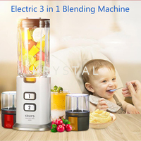 Electric 3 in 1 Blending Machine with 3 Cups Food Blender Baby Food Supplement Machine Household Meat Grinding Machine KB30380