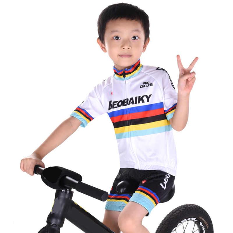 Pro Cycling Jersey Children Bike Clothing Mtb Wear Bicycle Clothes Kids  Cycling Sets Boy Girls Summer 36e621524