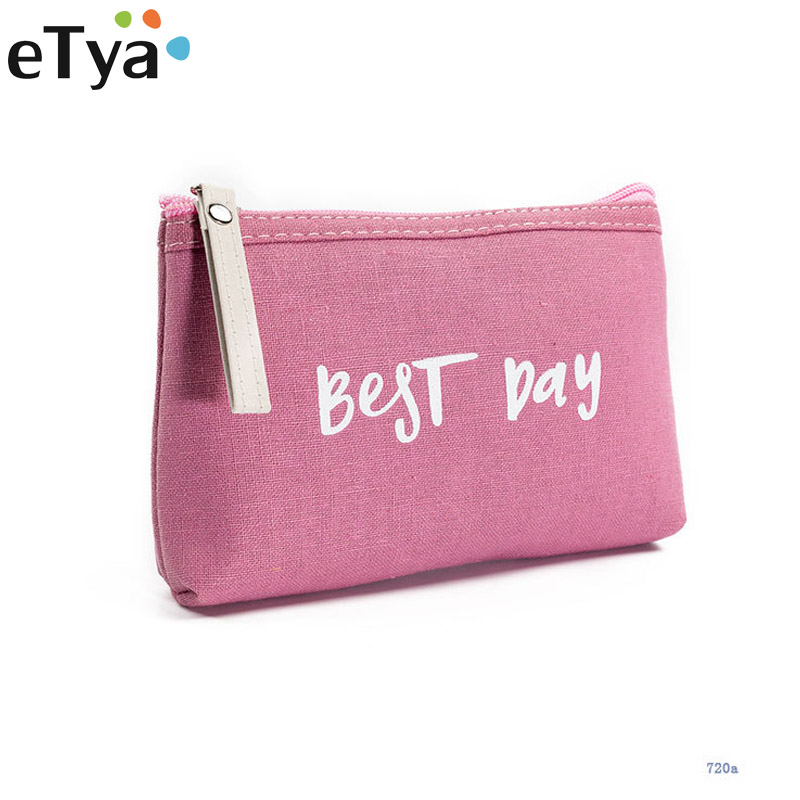ETya Small Cosmetics Portable Women Makeup Bag Toiletry Bag Travel Wash Pouch Cosmetic Bag Make Up Organizer Storage Beauty Case