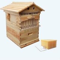 Деревянные улей с 7 улей кадров инструменты для пчеловодства мед самовсасывающийся улей дом пчелиный улей принадлежности оборудование для