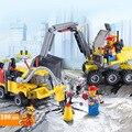 Kazi ciudad excavadora de construcción juegos de bloques de construcción ciudad playmobil juguetes brinquedos educativos ladrillos regalo