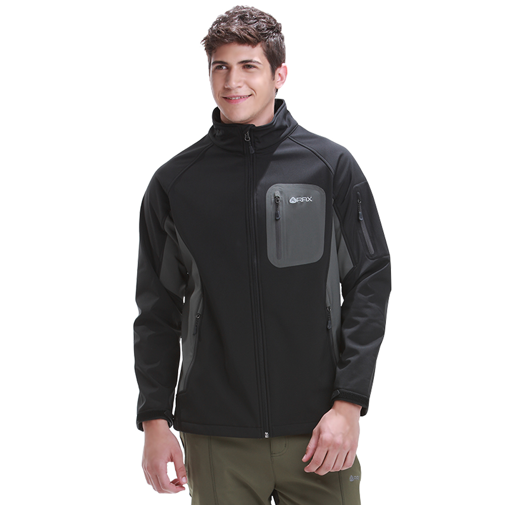 Rax Softshell Jacket Men Hiking Jackets Windproof Winter Jackets Outdoor Camping Jackets Thermal Coat 42 1E016