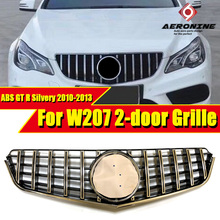 W207 2 door GTS Style Grille ABS Silver Without Sign Fits For MercedesMB E Class E200 E320 E350 Sport Front Kidney 10-13