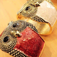 Classic Retro Women's Fashionable Personality Owl Leather Bangles Bracelet Jewelry