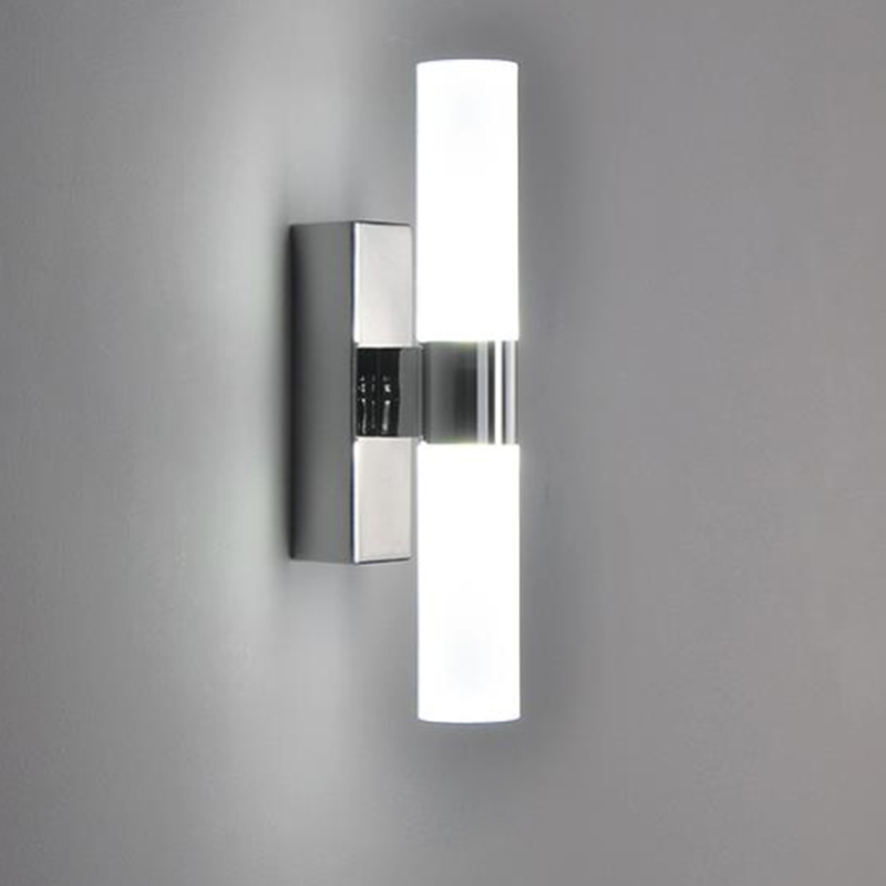 Image 5 - AC85 265V 6W Double heads acrylic LED wall light for Hotel/Bedroom Wall lamps for bathroom Stainless steel LED mirror lights-in LED Indoor Wall Lamps from Lights & Lighting