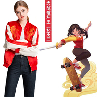 Ralph Breaks the Internet: Wreck It Ralph 2 Cosplay Women Mulan Cosplay Costume Halloween Costumes For Women Jacket Customize