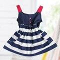 2016 Лето Baby Girl Dress Младенческой 0-1Years Новорожденных детской Одежды детей платья одежда из хлопка