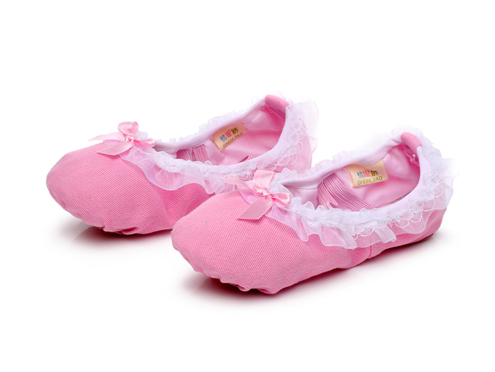 Rosa erwachsene leinwand slipper ballettschuhe kinder sohle schuhe ...