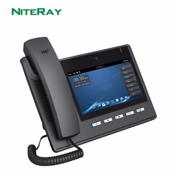 Android 4.2 OS, 6 linee SIP, sip/voip video ip phone con 7 TFT 800X480 touch screen supporto PoE funzione
