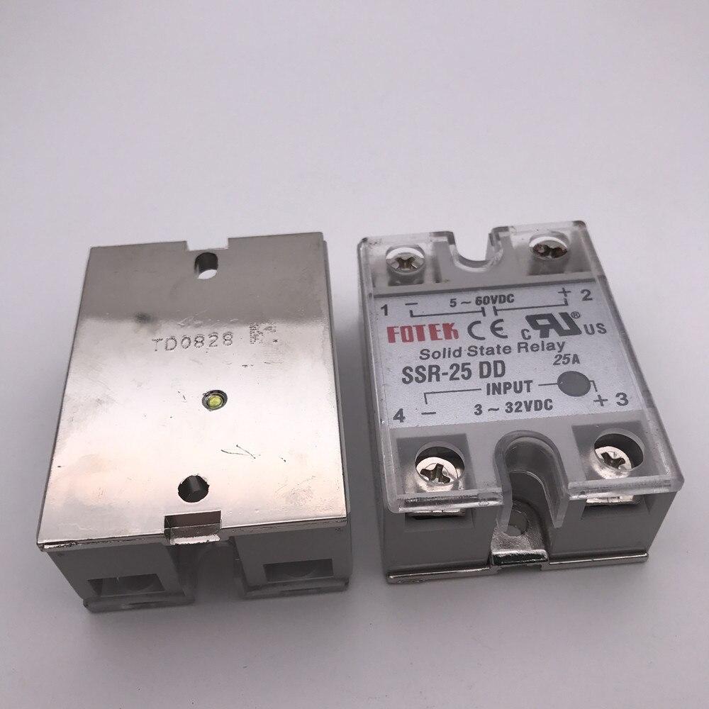 Подробнее о 1Pcs solid state relay SSR-25DD 25A actually 3-32 DC TO 5-60 DC SSR 25DD relay solid state soild state relay ssr 25 dd dc dc 25a 3 32vdc 5 200vdc