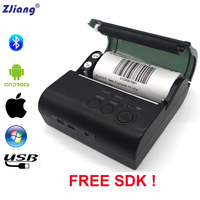 80mm Portable Bluetooth Thermal Printer Mini ticket receipt USB Wireless Mobile Printer For Windows Android IOS