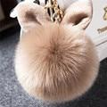 Fashion Imitation Rabbit Fur Ball Charm Pom Pom Keychain Car Bag Purse Decoration Key Chain Keyring Accessories
