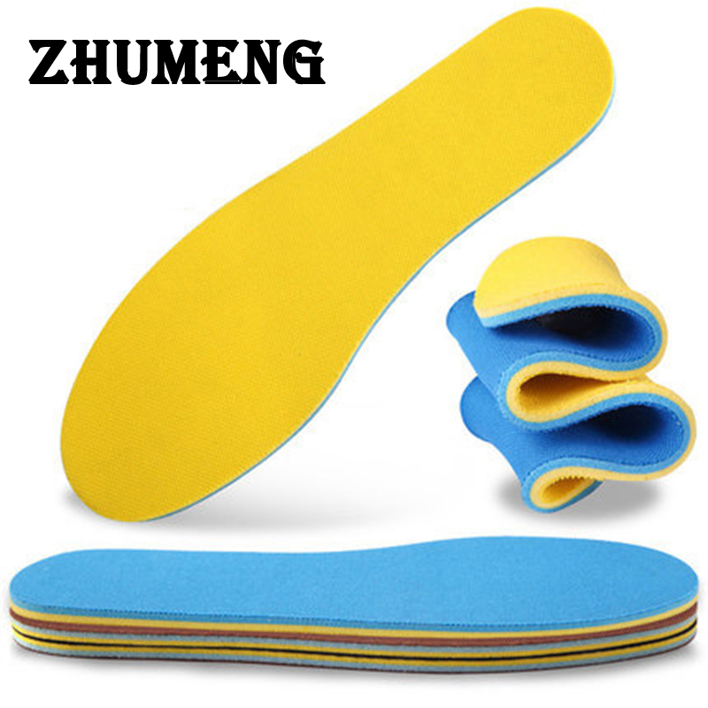 ZHUMENG 2 Pairs 28cm Women Scholls Insoles  Flat Foot Memory Foam Shoe Pad Insole Plantillas Fascitis Plantar Soles for Shoes 10 pairs once time free shipping 2015 newest memory foam insole custom foot massage insoles women and men shoes insole