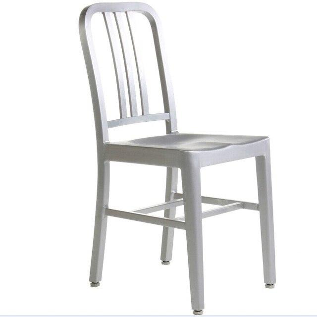 Aluminum Chair Navy Aluminum Chair Designer Furniture Emeco Design  NAVYCHAIR Dining Restaurant Cafe