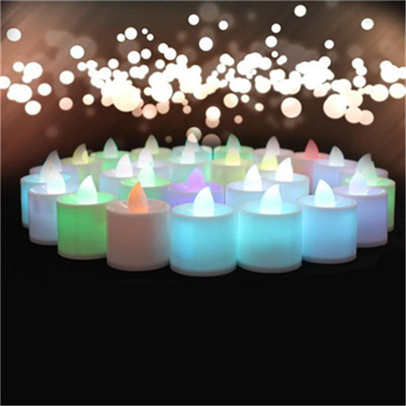 Electronic Candle LED Light Mini Colorful Romantic Smokeless Flameless Candle Lamp Wedding Birthday Party Christmas Home Decor fancy purple led flameless candle
