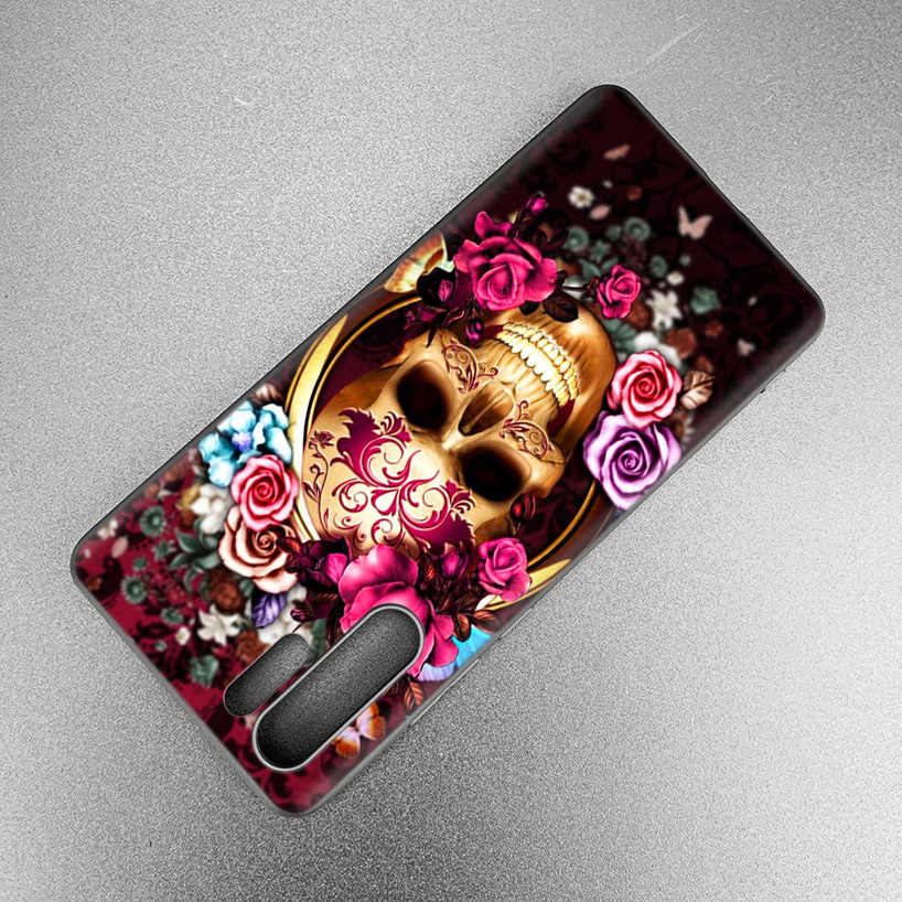 King Queen Skull Couple Lovers Case For Huawei P30 P20 Pro P10 lite Honor 8X 8A 8C 10 10i 20i P Smart + Plus Y6 Y7 2019 Cover