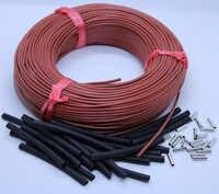 30m zu 100m Rot Silikon Gummi Fernen Infrarot Warmen Boden Raum Thermostat Carbon Faser Heizung Kabel 12K 33ohm