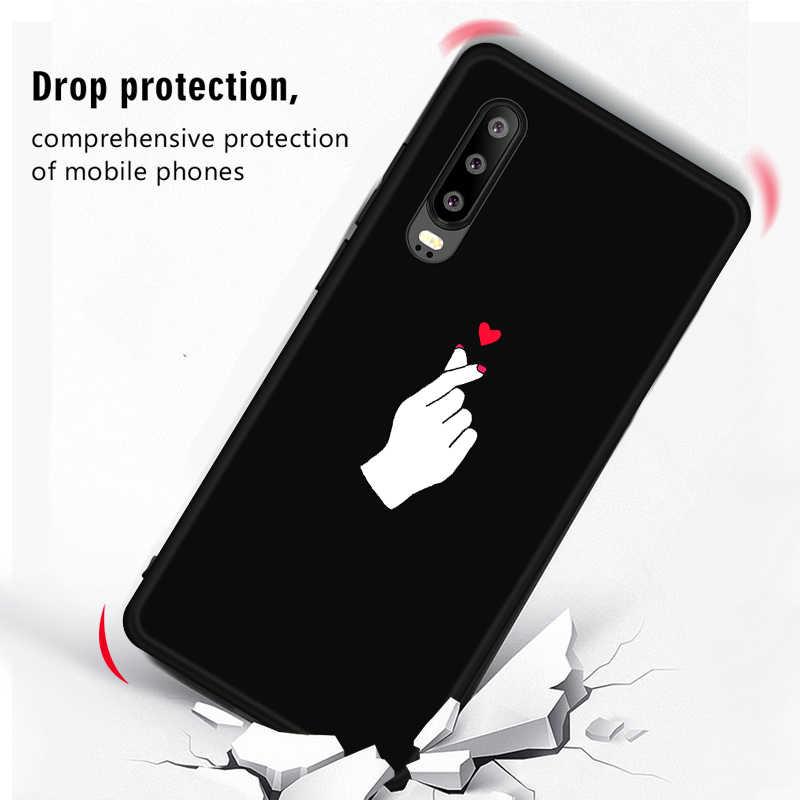 Mát Bầu Trời Đầy Sao Painted TPU Trường Hợp đối với Huawei P30 P20 Pro Nova 4 3i 3 3E P20 Lite Pattern Mềm bìa cho Honor 8X Max 8C 8A V20