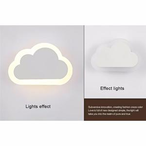 Image 5 - 8W Modern LED Wall Lights Clouds Wall Sconce Lamp For Bedroom Study Room Foyer Acrylic Home Decoration Warm White and white