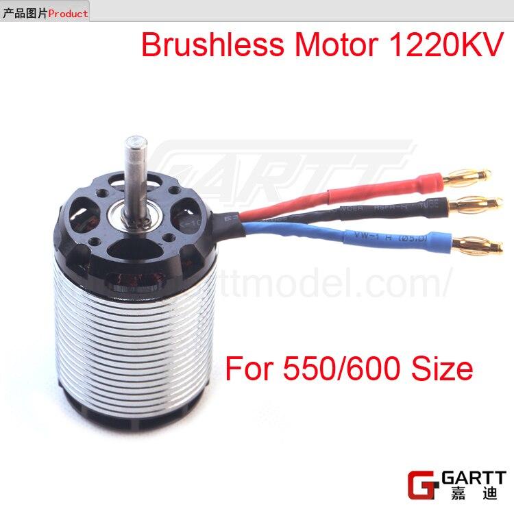 Livraison gratuite GARTT 1220KV 2100 w moteur Brushless pour 550/600 aligner hélicoptère Trex RC