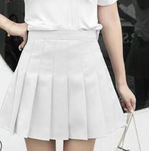 Korean Version New High Waist Half Short Skirt College Wind A Word Lattice Pleated Tutu