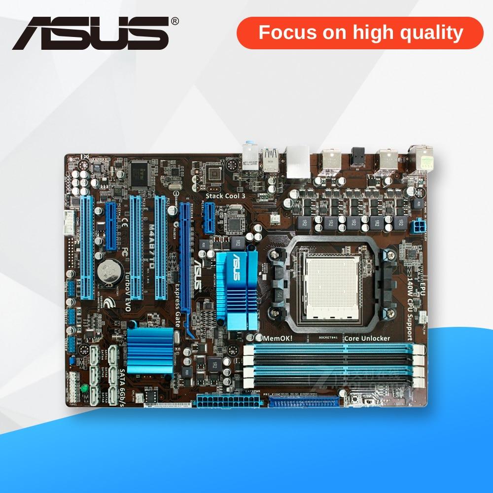 Asus M4A87TD Desktop Motherboard 870 Socket AM3 DDR3 SATA3 USB2.0 ATX