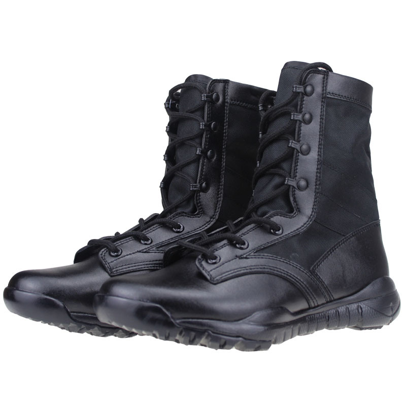 Black Light Wight Outdoor Hiking Shoes Men's Desert Military Tactical Boots Men Combat Army Boots Canvas Breathable Shoes