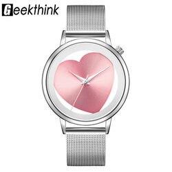 Senhoras Relógios Pulseira de Aço Inoxidável Das Mulheres de Quartzo Analógico Oco Malha Banda Marca de Luxo Designer De Relógio De Pulso de Moda Vestido